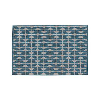 Aldo Blue Indoor-Outdoor 4'x6' Rug