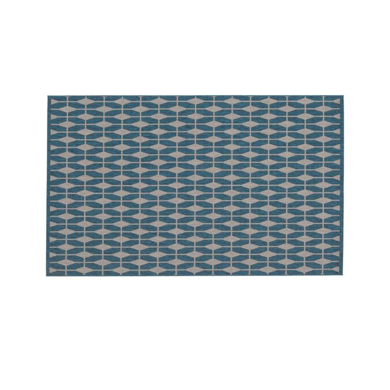 Aldo Blue Indoor-Outdoor 5'x8' Rug