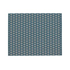 Aldo Blue Indoor-Outdoor 8'x10' Rug