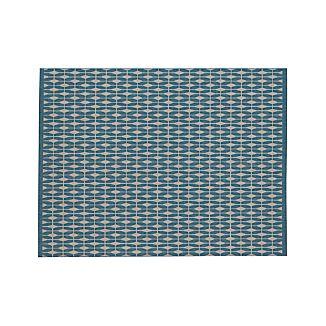 Aldo Blue Indoor-Outdoor 9'x12' Rug