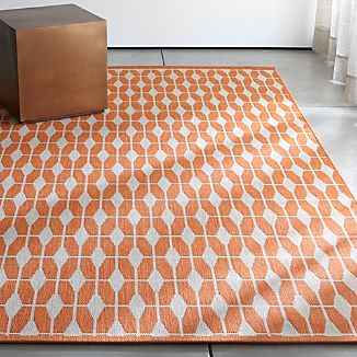Designer Chris Mestdagh's close attention to mid-century architectural details invests his designs with dynamic and playful patterns. Used in many Palm Springs homes to block the sun's harsh rays, concrete screens also patterned walls and pavement with intriguing shadows. Finding the beauty in utilitarian design, Mestdagh creates a modern, graphic statement in orange on neutral. Great for high-traffic areas indoors and out, this versatile floor covering is soil resistant and easy to clean.Order rugs (up to 6'x9') online and pickup in a store near you. It's fast, easy and free. Choose the Store Pickup option at Check Out. Learn More.For 8'x10' and larger rugs, an associate can arrange a convenient warehouse pick-up or delivery.Designed by Chris Mestdagh100% polypropyleneRug pad recommended for indoor useShake, vacuum or hose down to cleanMade in Belgium