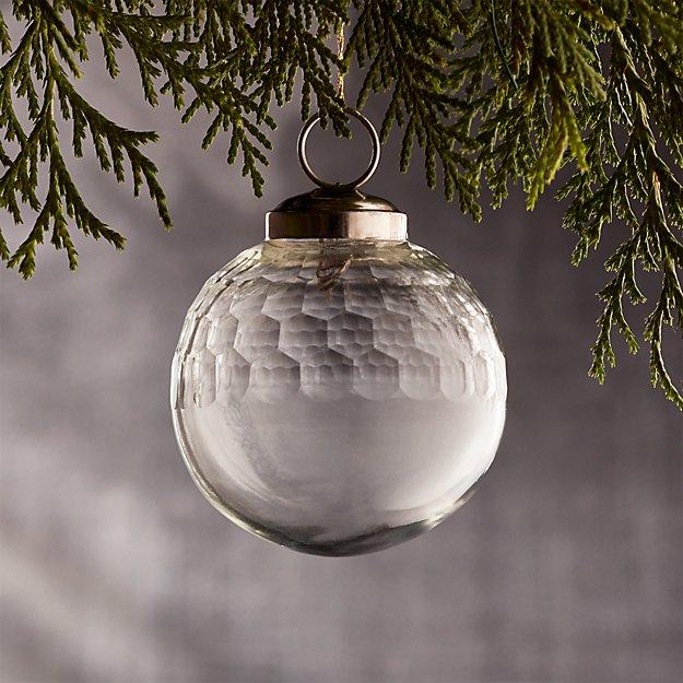 "Alexandra Clear 2"" Glass Ball Ornament"