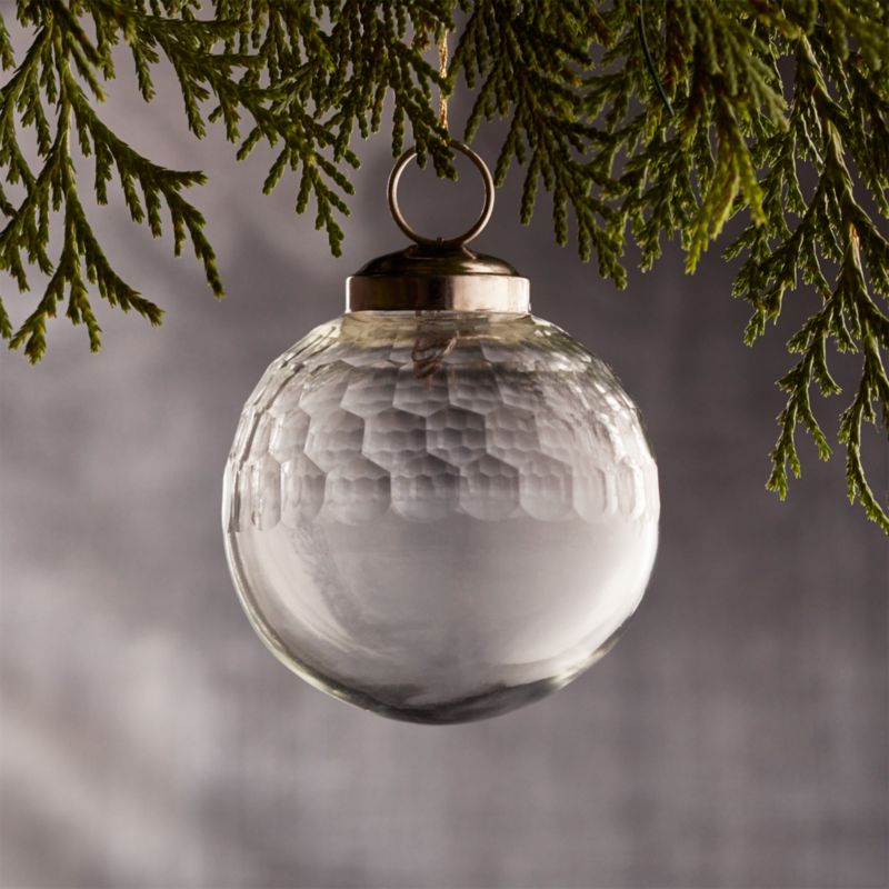 "Alexandra Clear 2"" Glass Ball Ornament"