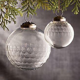Alexandra Clear Glass Ball Ornaments