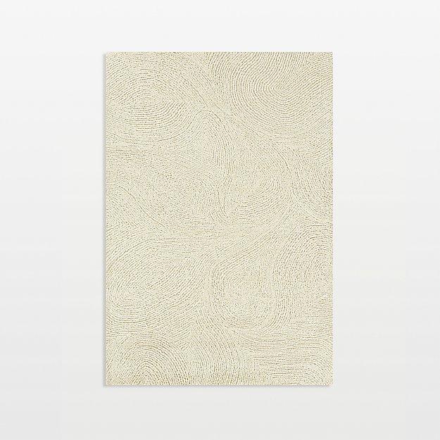 Alfredo Ivory Wool 5'x8' Rug
