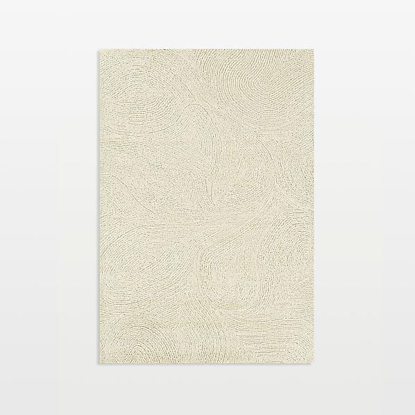 Alfredo Ivory Wool 6'x9' Rug