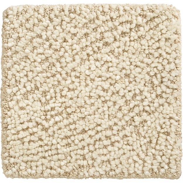 "Alfredo Ivory Wool 12"" sq. Rug Swatch"