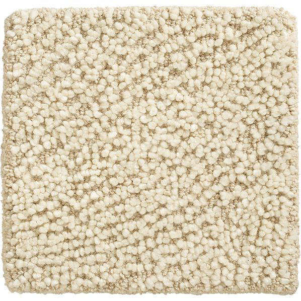 "Alfredo Ivory Wool 12"" sq. Rug Swatch"
