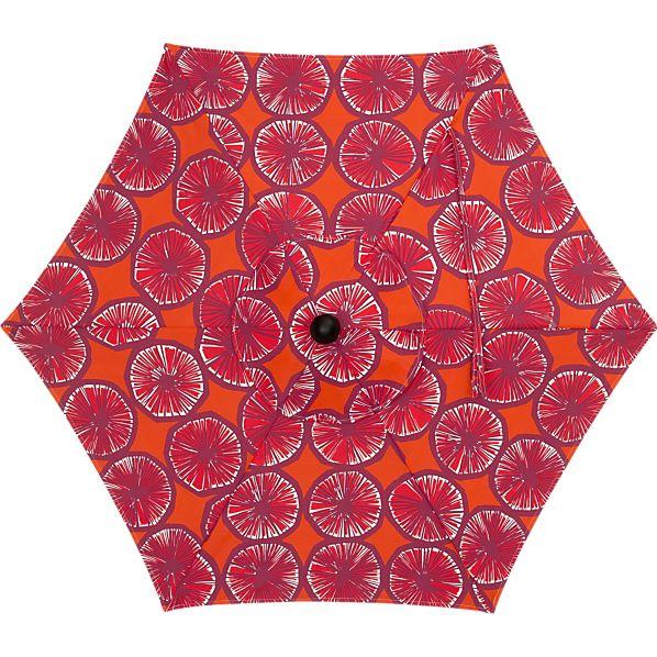 6' Round Marimekko Appelsiini Caliente Umbrella Cover