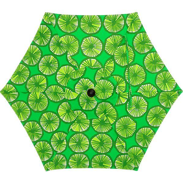 6' Round Marimekko Appelsiini Green Umbrella Cover