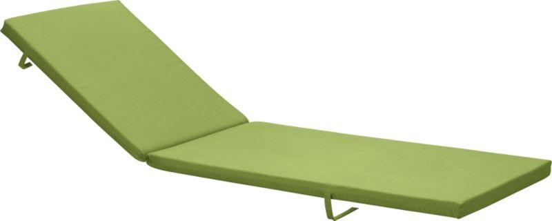 Optional kiwi green cushion is fade- and mildew-resistant Sunbrella acrylic.<br /><ul><li>Fade- and mildew-resistant Sunbrella acrylic</li><li>Polyfoam cushion fill</li><li>Fabric tab fasteners; spot clean</li><li>Made in USA</li></ul><NEWTAG/>