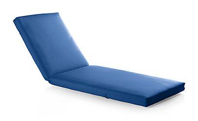 Alfresco sunbrella 3 chaise lounge cushion sunbrella for Blue chaise lounge cushions