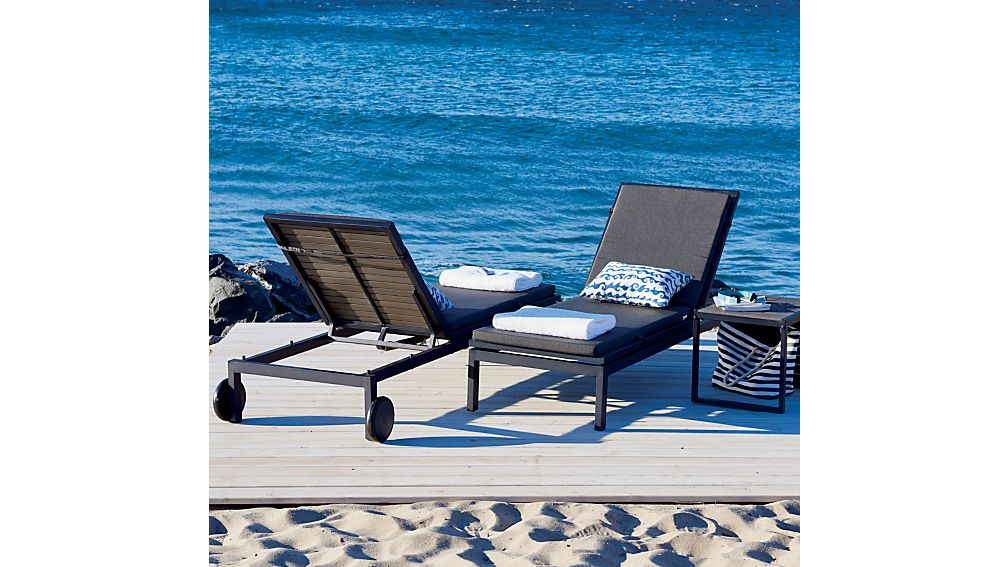 Alfresco Grey Chaise Lounge with Sunbrella ® Cushion