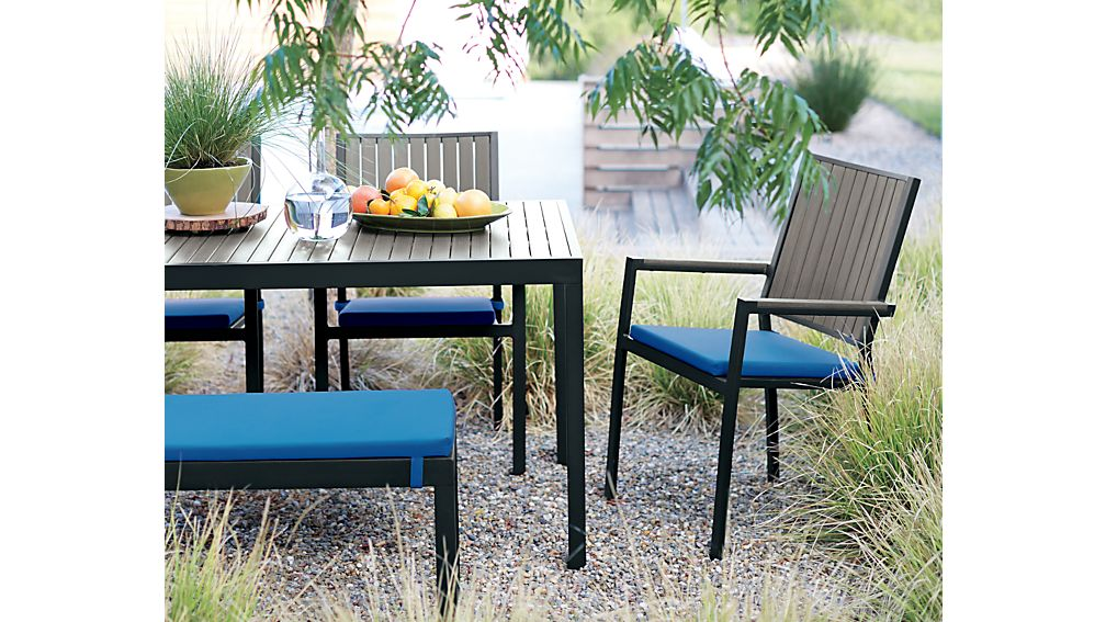 Alfresco Grey Rectangular Dining Table