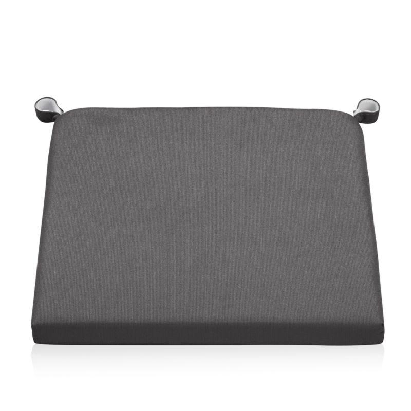 Add extra plush to Alfresco's chairs and bar stools with weather-resistant Sunbrella acrylic cushions. The Alfresco Outdoor Sunbrella Chair-Bar Stool Cushion is a Crate and Barrel exclusive.<br /><br /><NEWTAG/><ul><li>100% solution-dyed Sunbrella acrylic</li><li>Foam insert</li><li>Mold-, mildew-and fade-resistant</li><li>Fabric tab fasteners</li><li>Material origin: see swatch</li><li>Made in USA or China</li></ul><br />