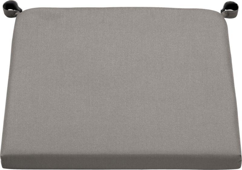 Optional chair-barstool cushion is fade- and mildew-resistant Sunbrella acrylic in graphite.<br /><ul><li>Fade- and mildew-resistant Sunbrella acrylic</li><li>Polyurethane foam cushion fill</li><li>Secured with fabric tab fasteners</li><li>Spot clean</li><li>Made in China</li></ul><NEWTAG/>