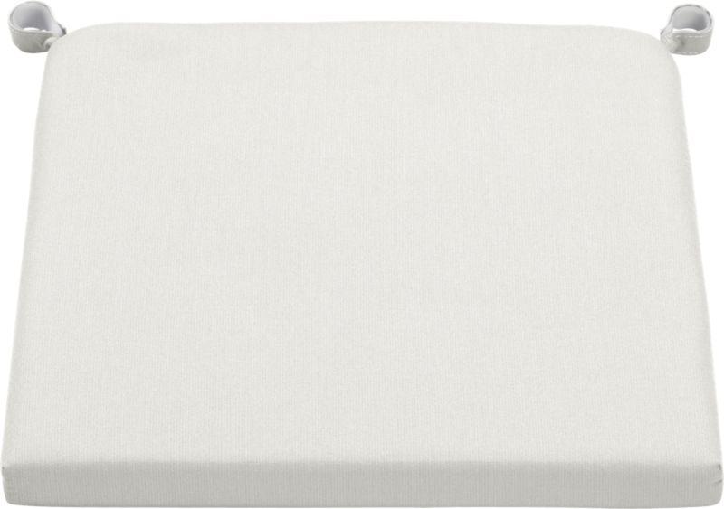 Add extra comfort to Alfresco dining chair seating with fade-, water- and mildew-resistant Sunbrella® acrylic cushions in warm white sand.<br /><br /><NEWTAG/><ul><li>Fade- and mildew-resistant Sunbrella acrylic</li><li>Polyurethane foam cushion fill</li><li>Fabric tab fasteners</li><li>Spot clean</li><li>Made in China</li></ul>