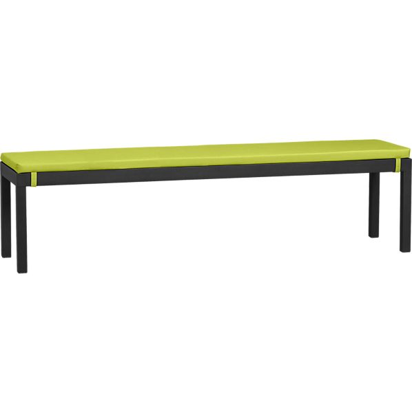 Alfresco Grey Dining Bench with Sunbrella ® Apple Cushion