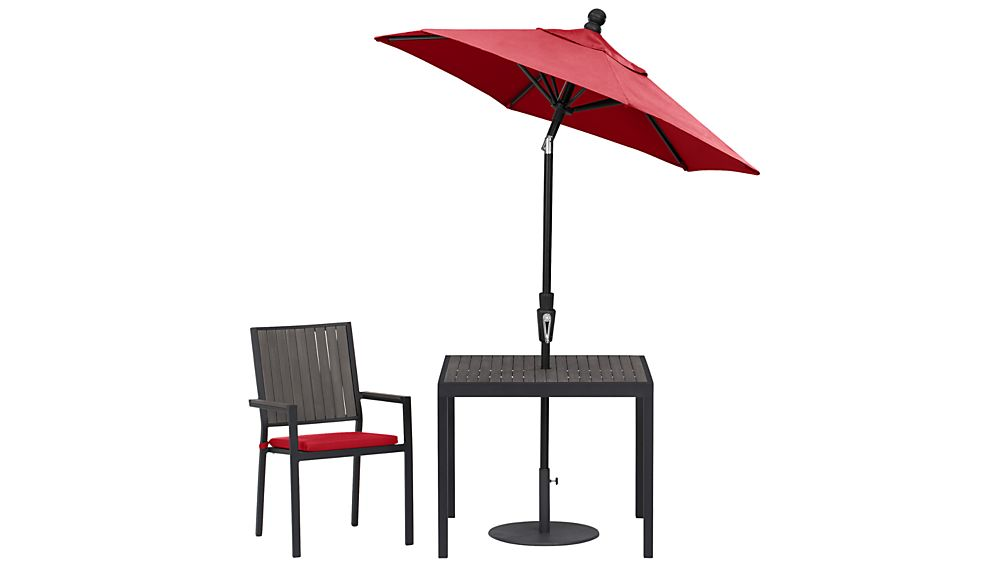 Alfresco Grey Dining Chair with Sunbrella ® Cushion