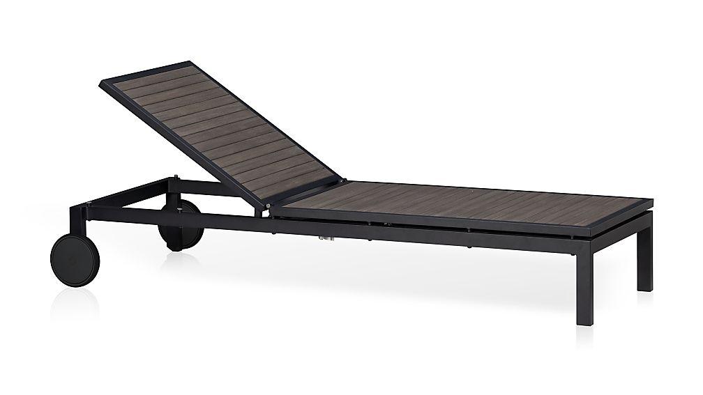 Alfresco Grey Chaise Lounge