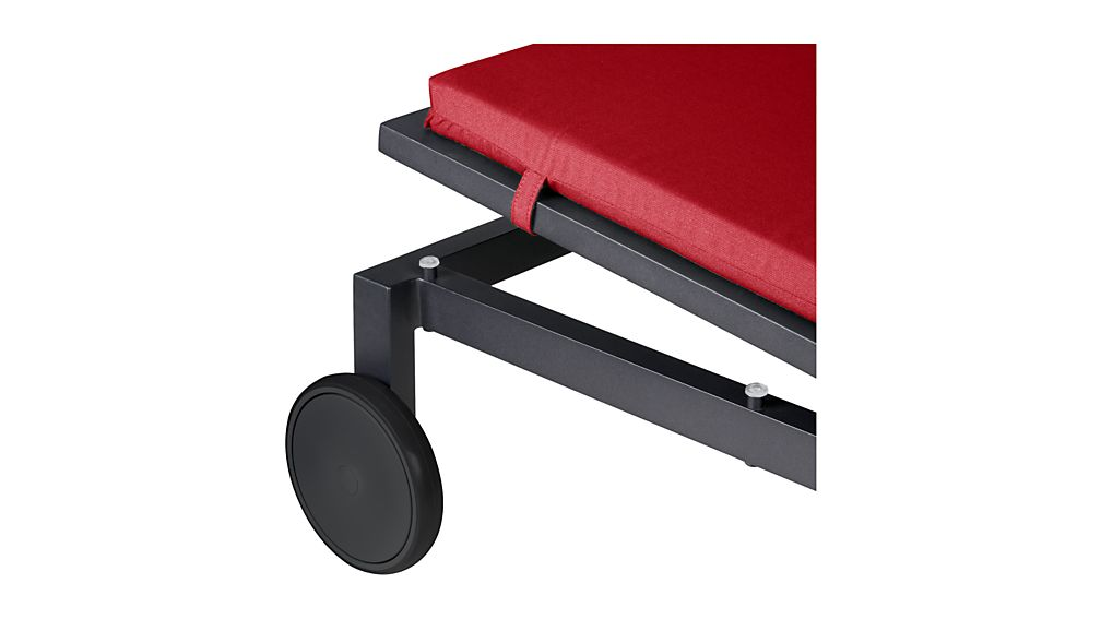 Alfresco Grey Chaise Lounge with Sunbrella ® Cushion