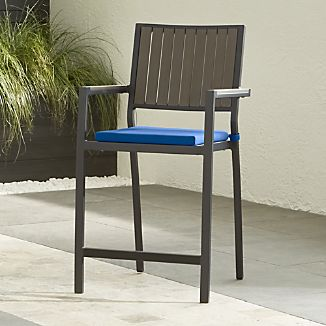 "Alfresco Grey 24"" Counter Stool with Sunbrella ® Cushion"