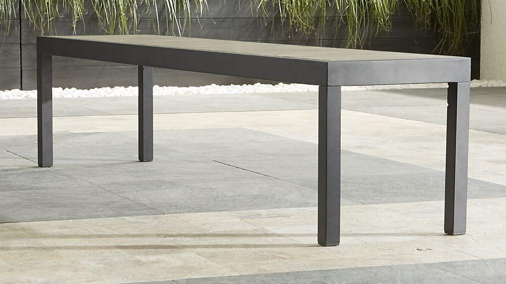 Alfresco Grey Dining Bench