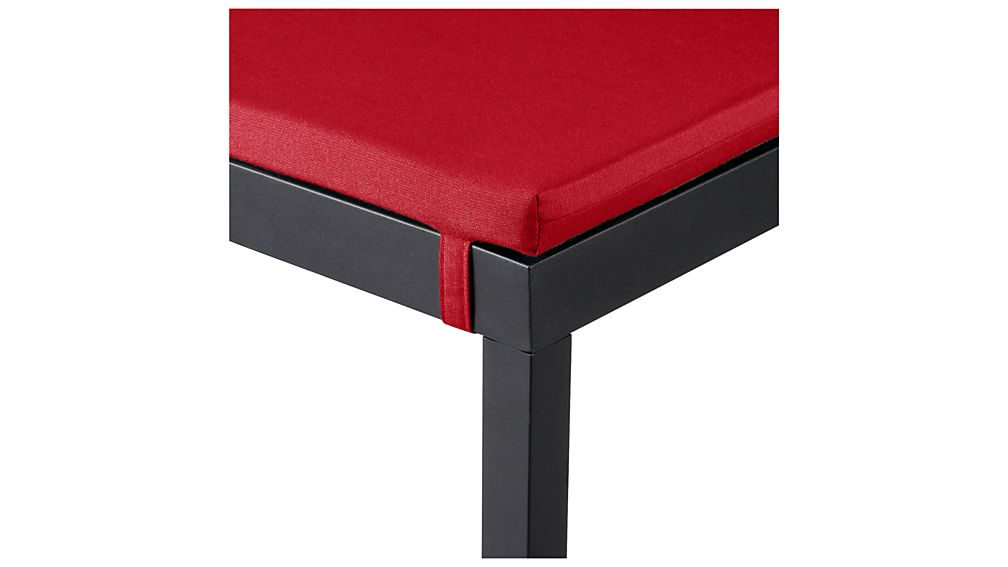 Alfresco Grey Dining Bench with Sunbrella ® Cushion
