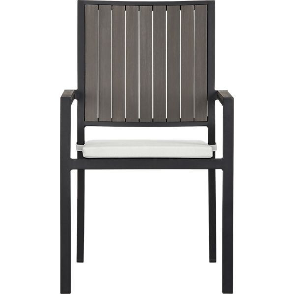 Alfresco Grey Dining Chair with Sunbrella ® Eggshell Cushion