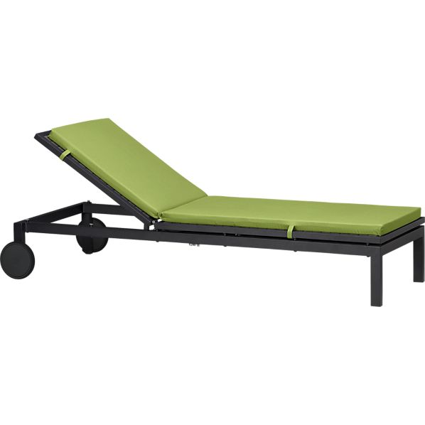 Alfresco Grey Chaise Lounge with Sunbrella ® Kiwi Cushion