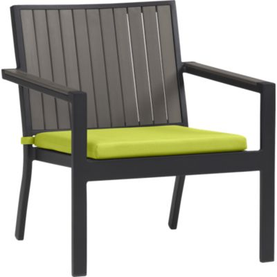 Alfresco Grey Lounge Chair with Sunbrella® Apple Cushion