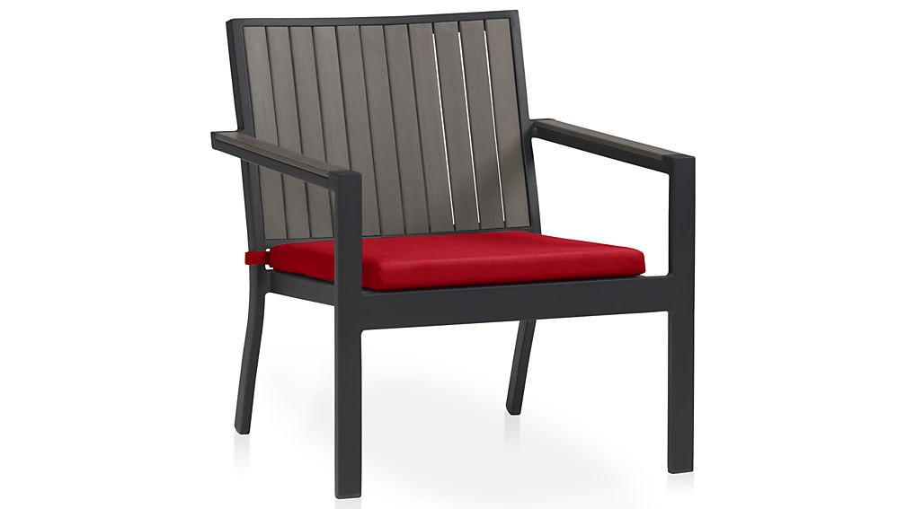 Alfresco Grey Lounge Chair with Sunbrella ® Cushion