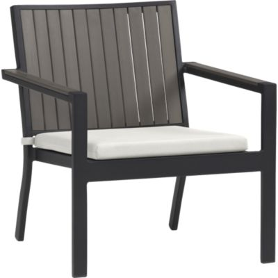 Alfresco Grey Lounge Chair with Sunbrella® White Sand Cushion