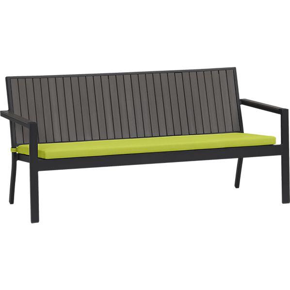 Alfresco Grey Sofa with Sunbrella ® Apple Cushion