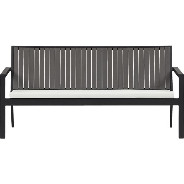 Alfresco Grey Sofa with Sunbrella ® Eggshell Cushion