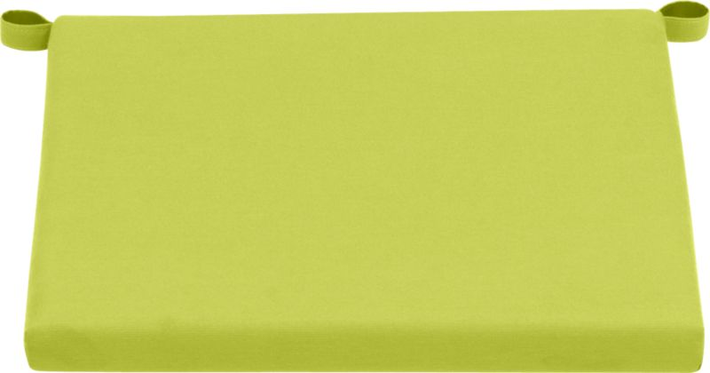 Add extra comfort to Alfresco lounge chair seating with fade-, water- and mildew-resistant Sunbrella® acrylic cushions in vibrant apple green.<br /><br /><NEWTAG/><ul><li>Fade- and mildew-resistant Sunbrella acrylic</li><li>Polyurethane foam cushion fill</li><li>Fabric tab fasteners</li><li>Spot clean</li><li>Made in USA</li></ul>