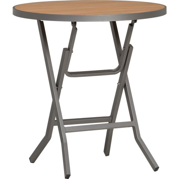 Alfresco Natural Folding Bistro Table