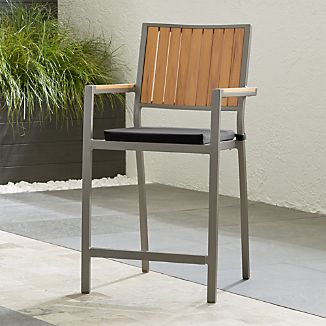 "Alfresco Natural 24"" Counter Stool with Sunbrella ® Cushion"