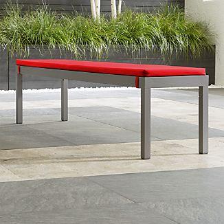 Alfresco Natural Dining Bench with Sunbrella ® Cushion
