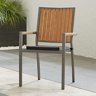 Alfresco Natural Dining Chair with Sunbrella ® Cushion