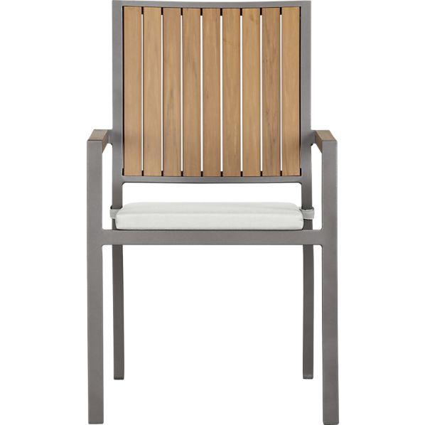 Alfresco Natural Dining Chair with Sunbrella ® Eggshell Cushion