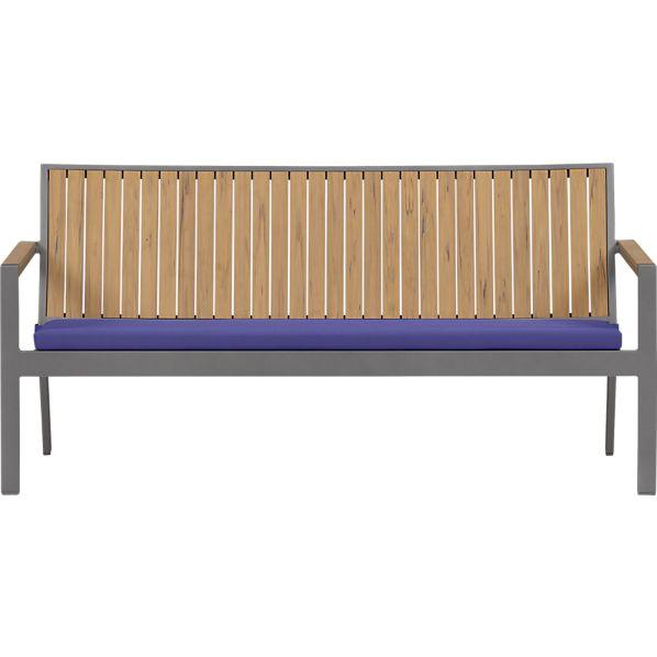 Alfresco Natural Sofa with Sunbrella ® Marine Cushion