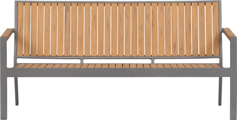 Casual and stylish Alfresco fools the eye with the look of real wood and fools the elements with waterproof, and UV- and fade-resistant qualities. The result is an outdoor collection that will last season after season for years to come. Slats of innovative Polystyrene faux wood are treated with UV and anti-oxidant protection and finished a neutral natural. Sturdy but lightweight aluminum frames are powdercoated silver. Low-slung sofa with angled back has slatted faux wood. Alfresco Natural dining collection also available.<br /><ul><li>Extruded polystyrene with UV and anti-oxidant protection</li><li>Rustproof aluminum frame with powdercoat finish</li><li>Stackable</li><li>Seats up to three</li><li>Made in China</li></ul><NEWTAG/>
