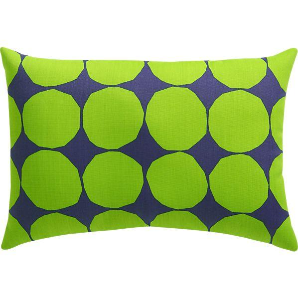 "Marimekko Pienet Kivet Blue 20""x13"" Outdoor Pillow"