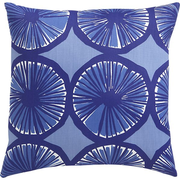 "Marimekko Appelsiini Blue 20""sq. Outdoor Pillow"