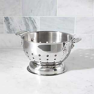 All Clad 174 3 Qt Stainless Steel Colander Crate And Barrel