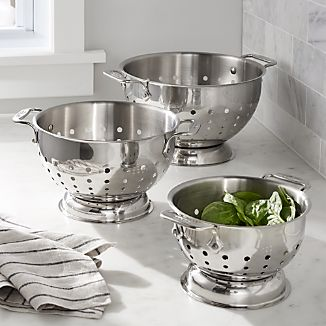 All-Clad ® Stainless Steel Colanders