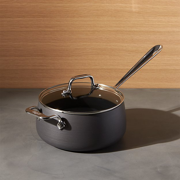All-Clad ® HA1 Hard-Anodized Non-Stick 3.5-Qt. Sauce Pan