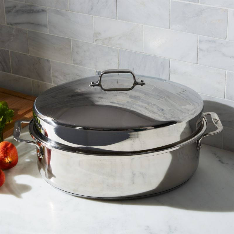 All-Clad ® Oval Roasting Pan with Lid