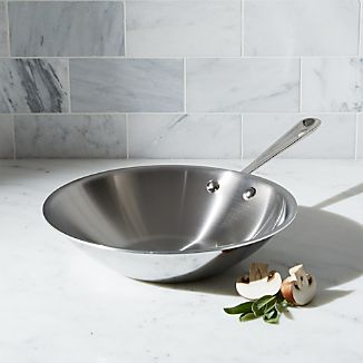 "All-Clad ® Stainless Steel 10"" Stir-fry Pan"